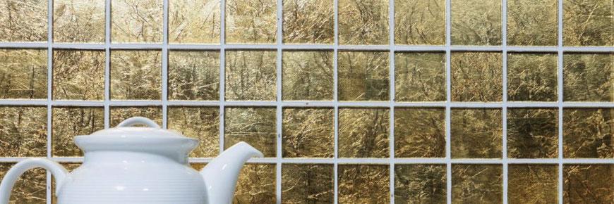 mosaico vetro foglia oro
