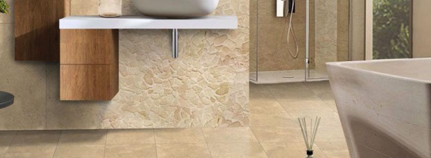 Bagno marmo botticino