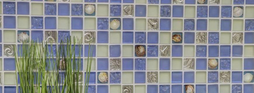 Mosaico in pasta di vetro riciclato Serie Eco