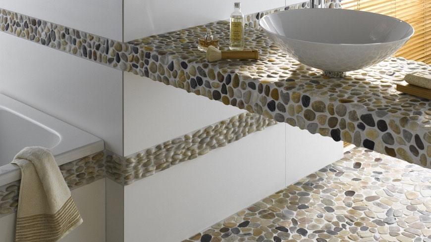 mosaico bianco in ceramica a mattoncino opaco