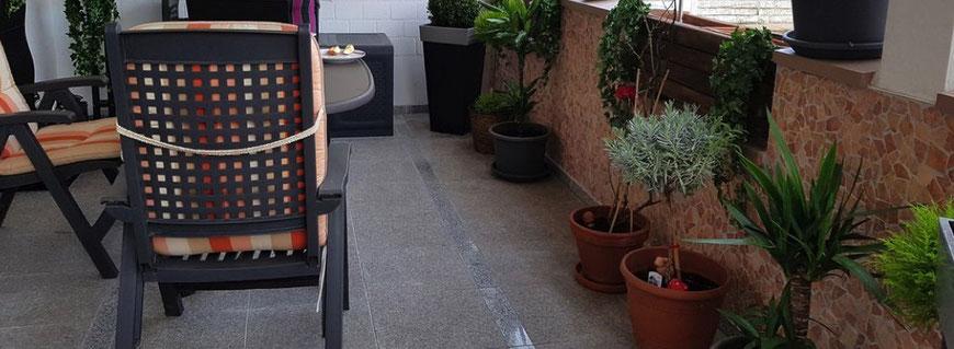 palladiana in marmo sul terrazzo