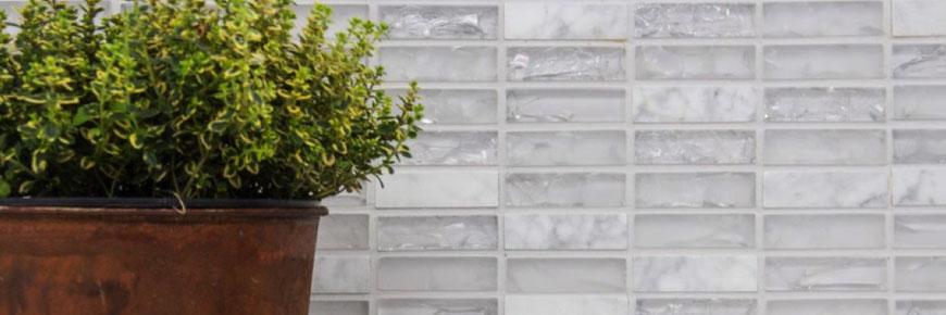 Mosaico in marmo e vetro a mattoncini Brick - MOSAIX.IT
