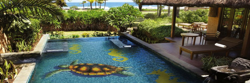 Mosaico decorazione per piscina