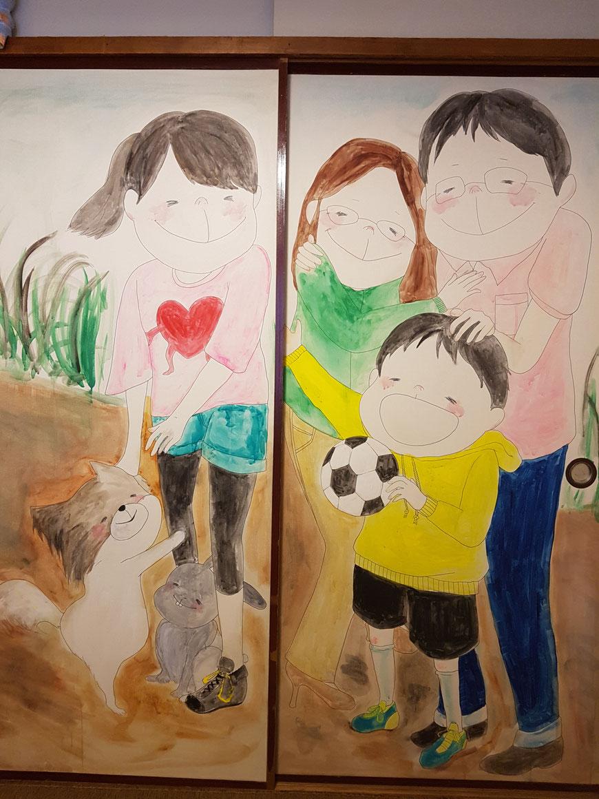 IKOI韓国語教室のふすまにある絵