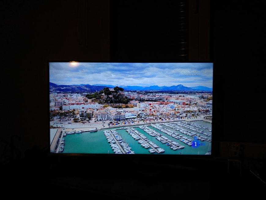 Imagen de Dénia captada de un momento de la emisión de MasterChef en TVE, en la final de la séptima edición