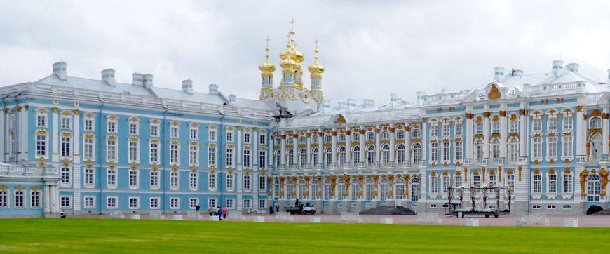 Katharinenpalst, Puschkin, Russland: KalkFarbe, weiß und pigmentiert