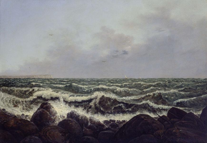 Carl Gustav Carus, Brandung bei Rügen, 1819 © bpk/Staatliche Kunstsammlungen Dresden/Elke Estel