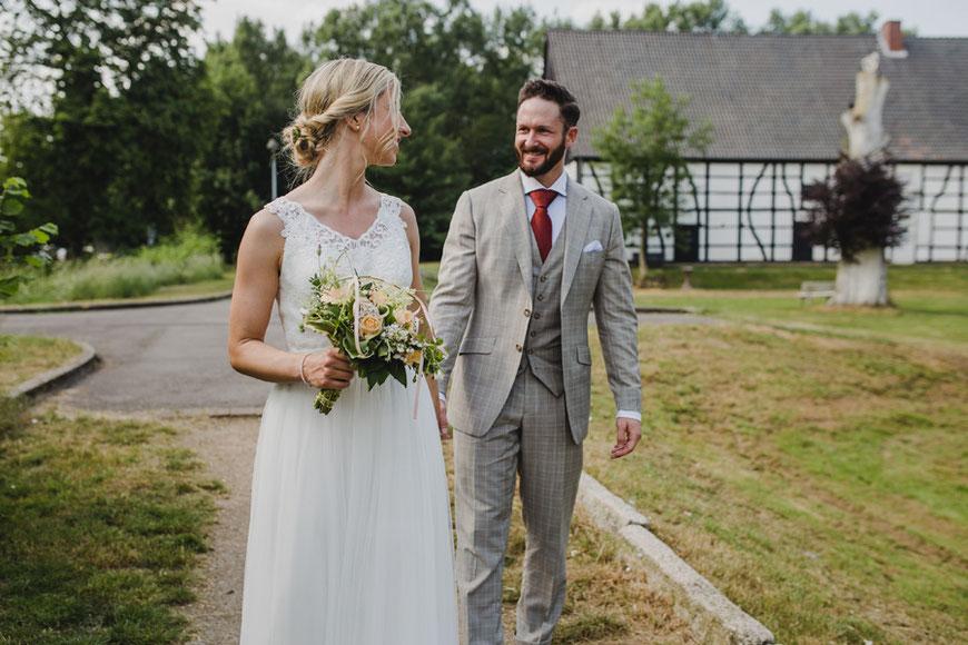 Hochzeitsfotos Brautpaarshooting Haus Kemnade