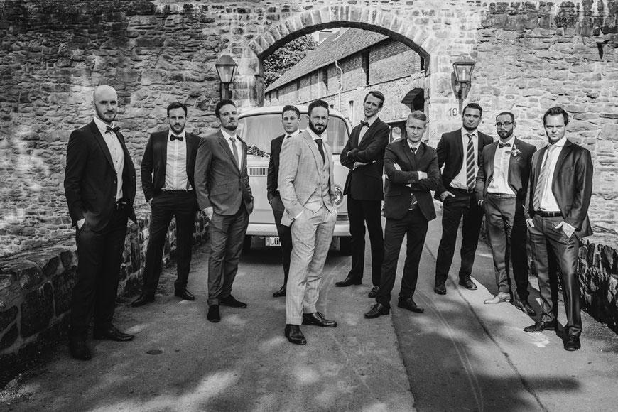 Gruppenfoto Männer Bräutigam