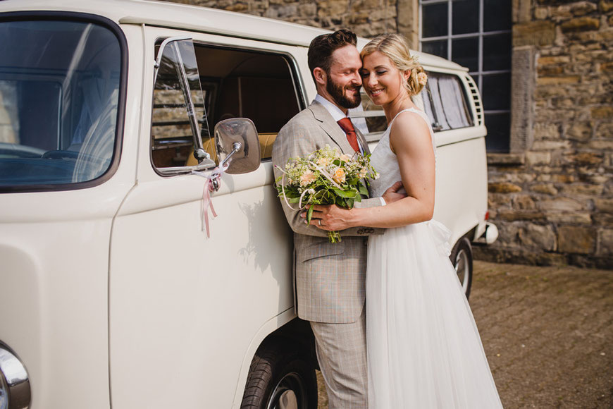 Brautpaarfotos VW Bulli
