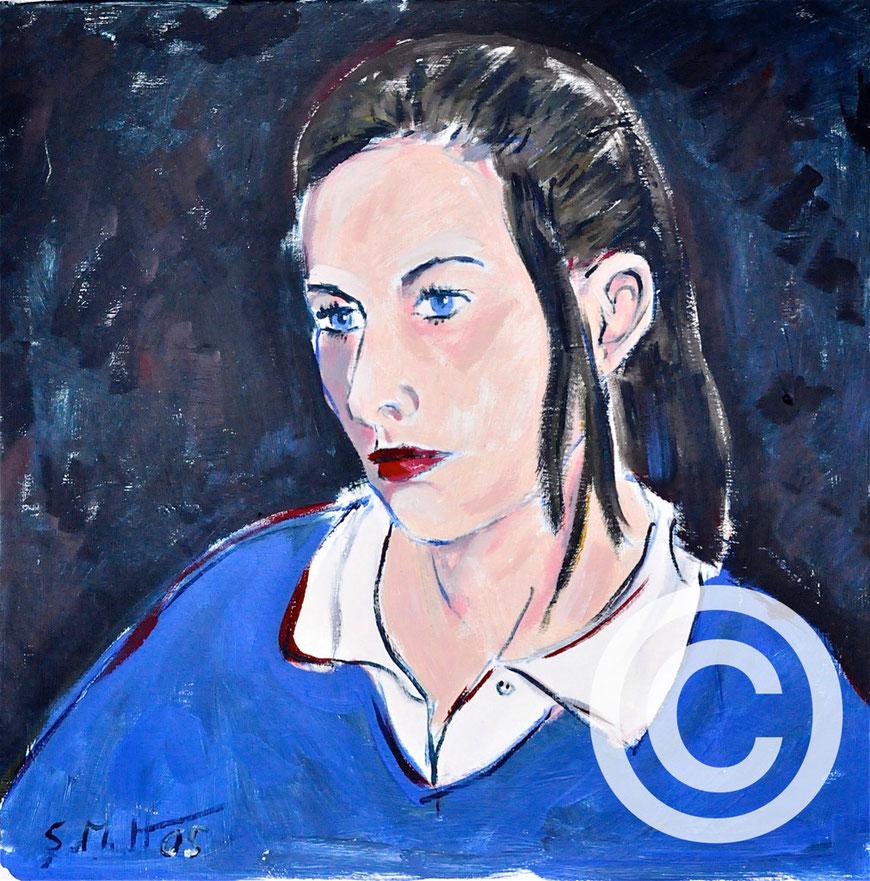 Julia/ Acryl auf Leinwand/ 60 cm x 60 cm