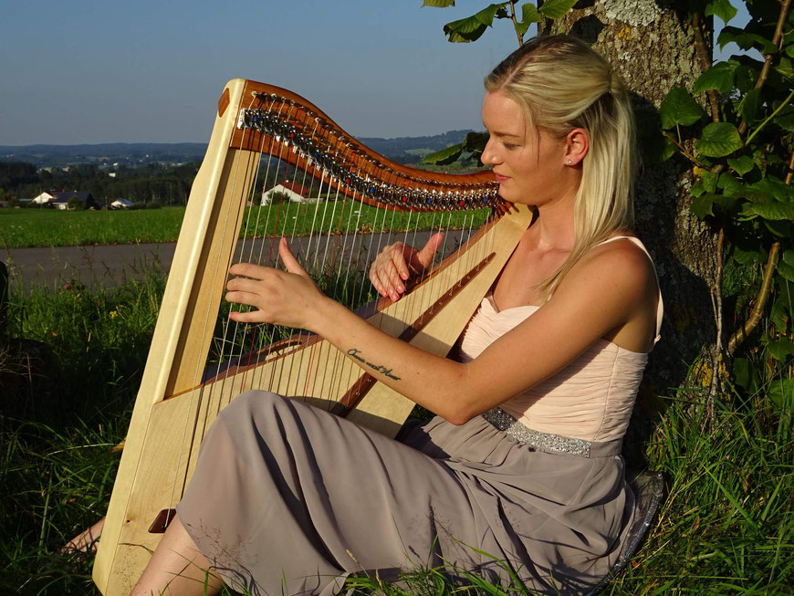 Travel harp Luna 32 strings, Reiseharfe 32 Saiten