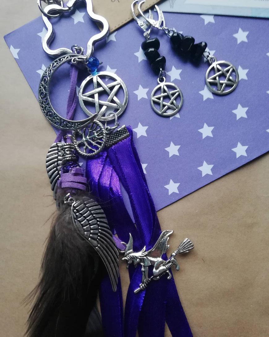 Heksen sieraden met pentagram