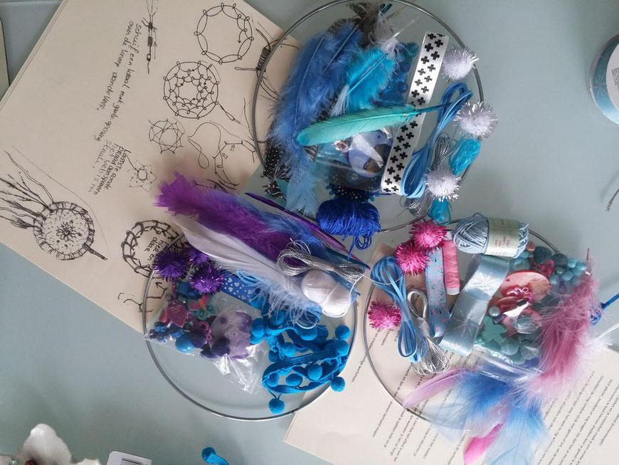 Doe het zelf pakket Dromenvangers maken in lieve kleurtjes voor de kinderkamer