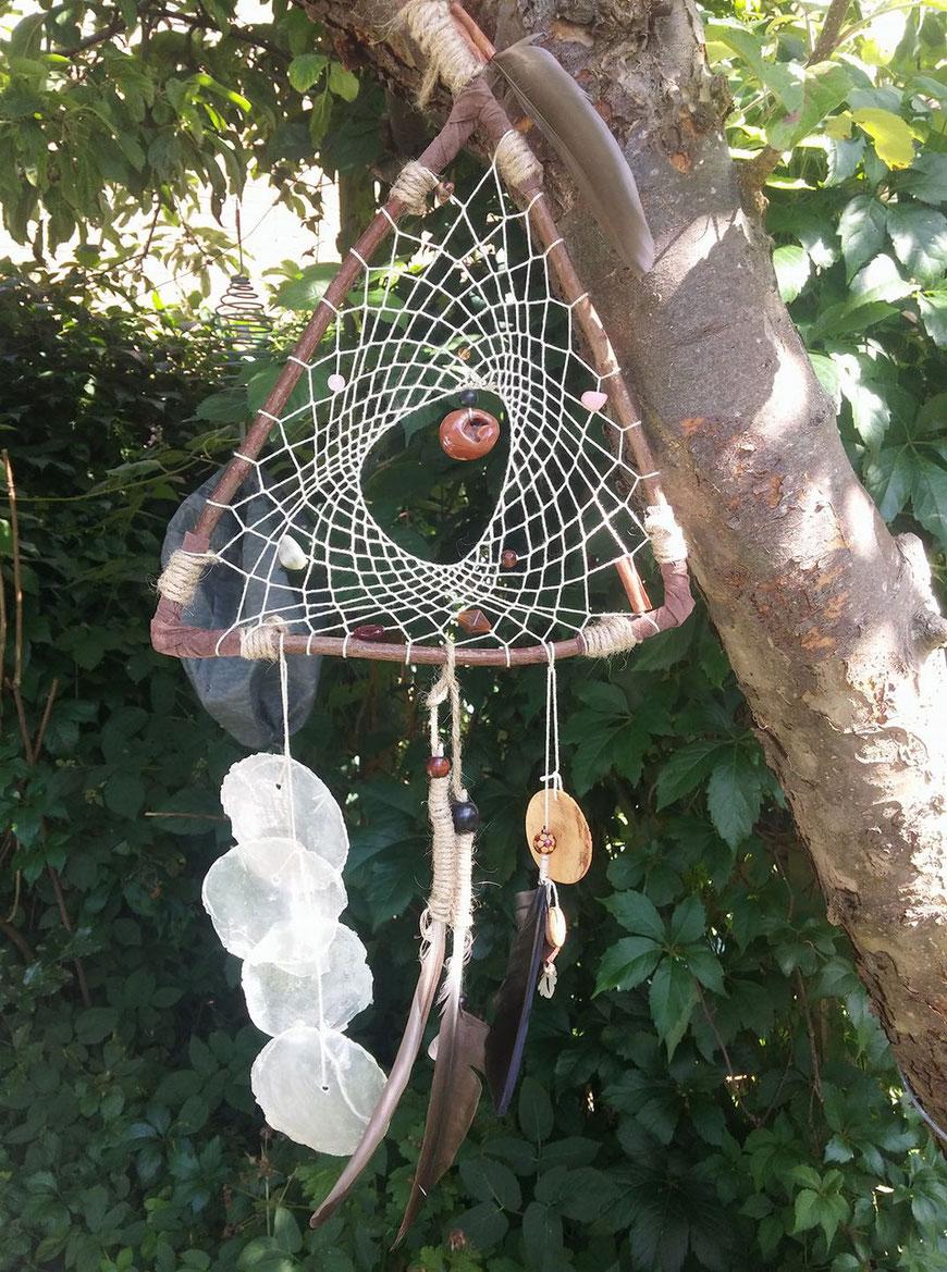 """""""Triangel"""" natuurlijke Dromenvanger van wilgentakken"""
