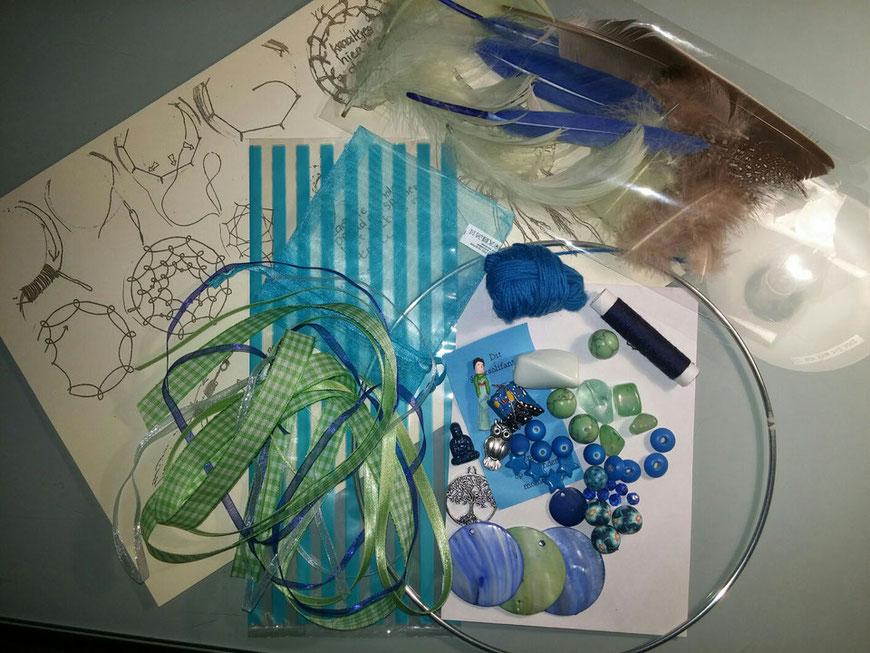 Doe het zelf pakket Dromenvangers maken groen blauw