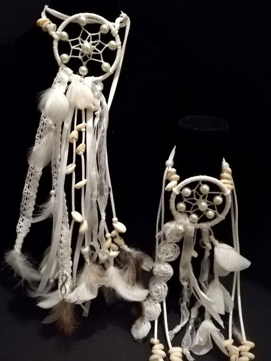 Witte dromenvanger sieraden