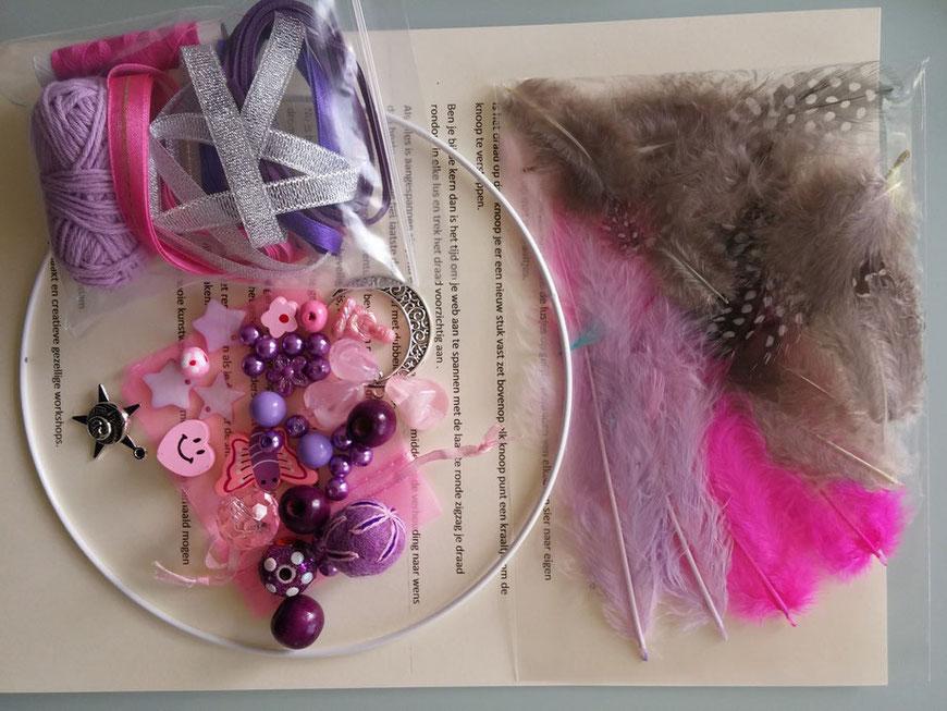 Dromenvangers maken compleet pakket in  roze lila