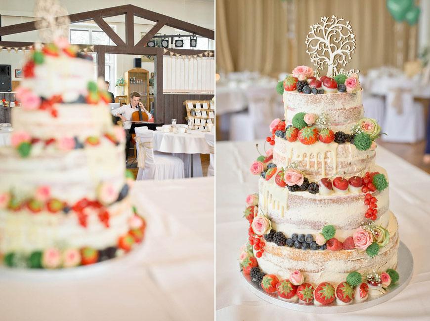 Hochzeitstorte Erdbeeren, Blumen, Tortenfantasy, Zschopau