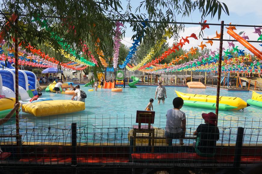 Le parc de Xiedao propose des activités adaptées aux plus jeunes : la plupart des visiteurs sont des familles avec enfants.