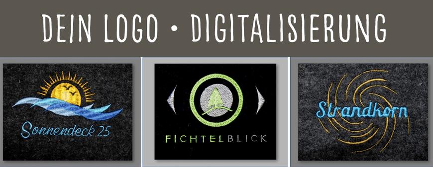 Digitalisierungsservice Digitalisierung Erstellung von Stickdatei Foto in Stickdatei umwandeln Dein Logo gestickt