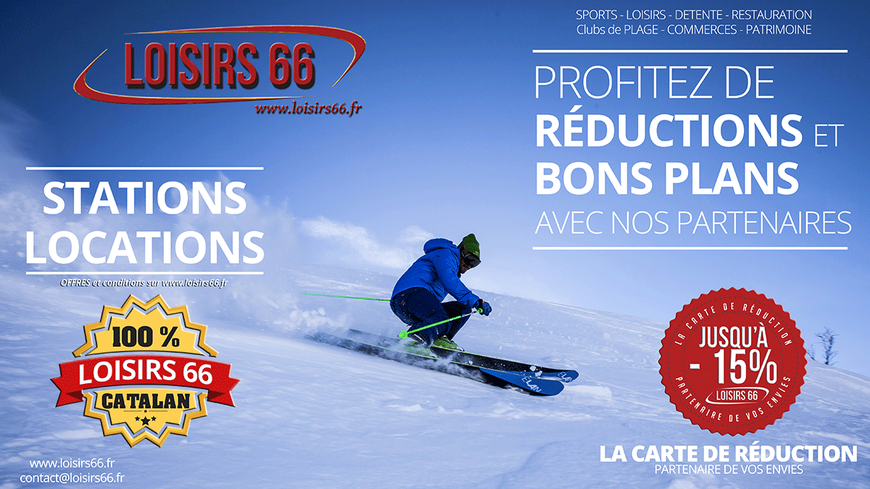 Réduction ski perpignan Font romeu Loisirs 66