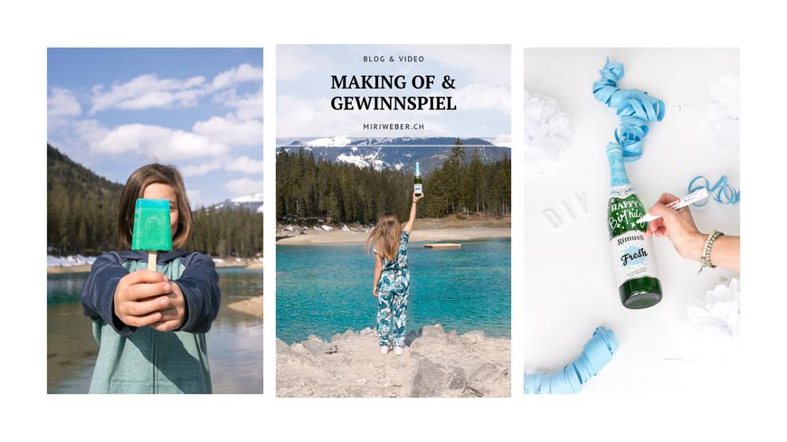 Rimuss Fresh, Rezept, blaues Eis, alkoholfrei, DIY, Lettering, Geschenkidee, Lettering auf Flasche, Schweizer Blog, Content Creator, Schweiz