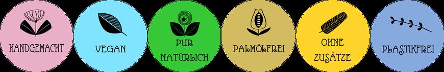 Handgemacht Vegan Pur Natürlich Palmölfrei Ohne Zusätze Plastikfrei Zutaten Wirkstoffe Naturpflege