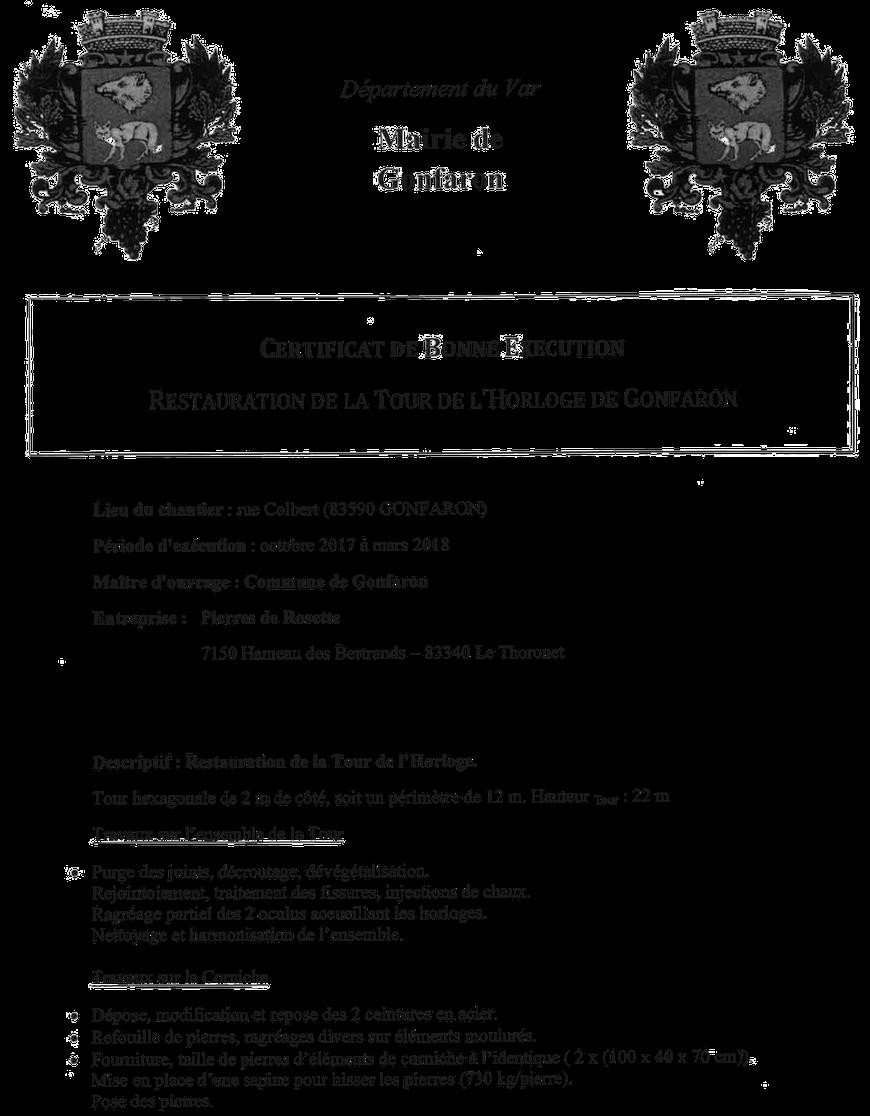 certificat-travaux-restauration-tour-horloge-gonfaron-pierre-monument-historique-var-83