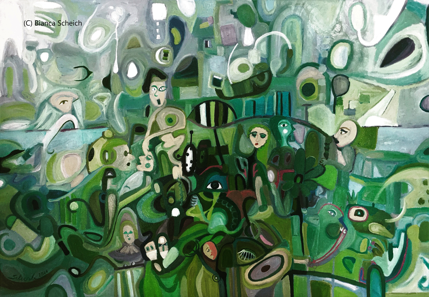 """In Floras Garten"", 80 x 100 cm, 2021"