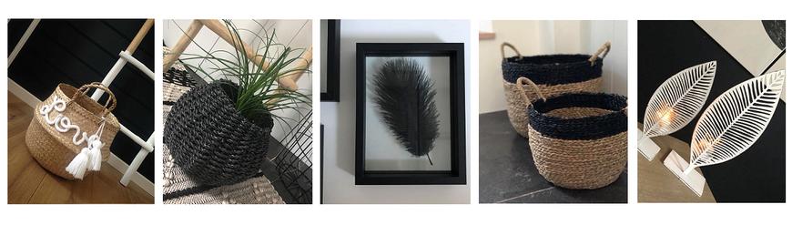 Panier personnalisé, paniers, plume, plumes, cadre