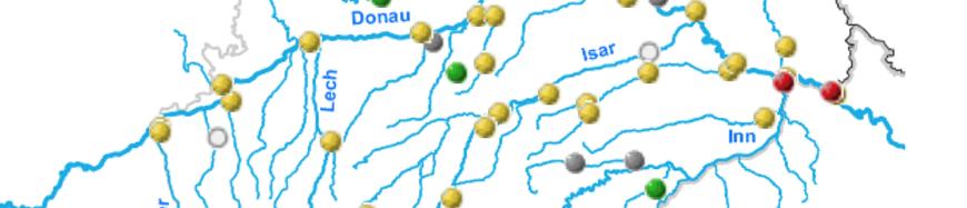 Gelb: hohe Temperatur | Rot: neuer Höchstwert (Quelle: www.nid.bayern.de)