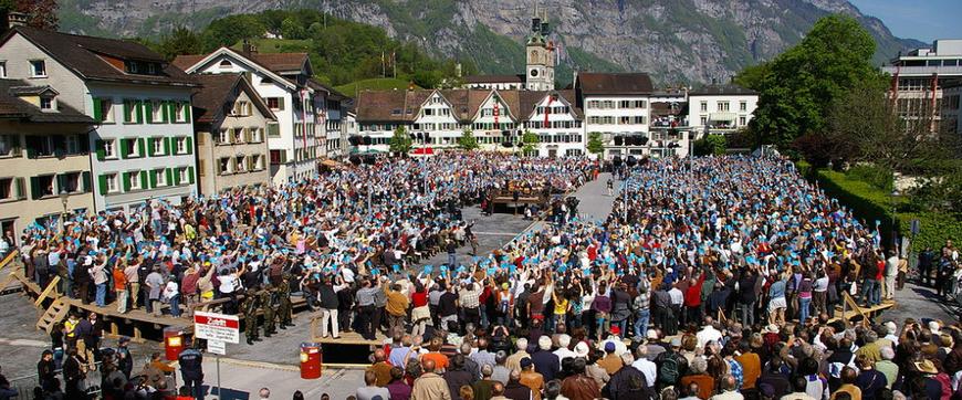 Bild: Referendum an der Basis: Direkte Demokratie in Glarus, Schweiz