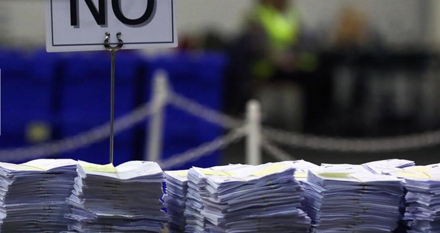 Изображение: ЕС ослабление - выход из союза по референдуме; Фото: ARD, www.tagesschau.de 19.9.14