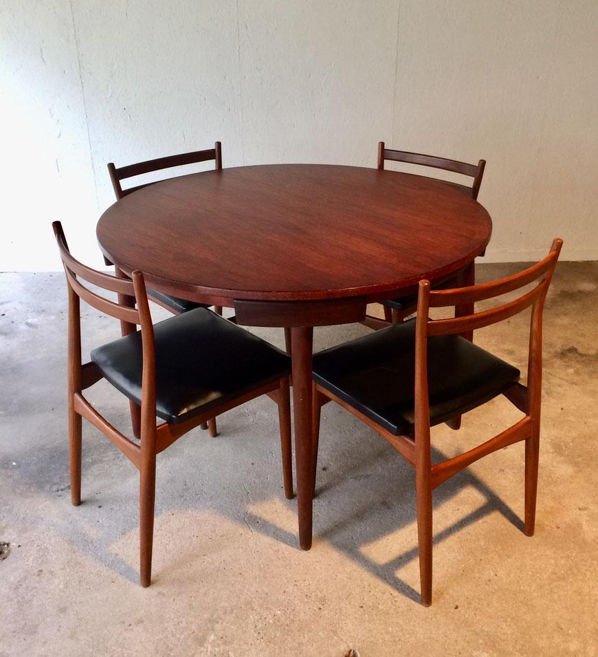 table vintage, Roundette, Hans Olsen, Frem Røjle