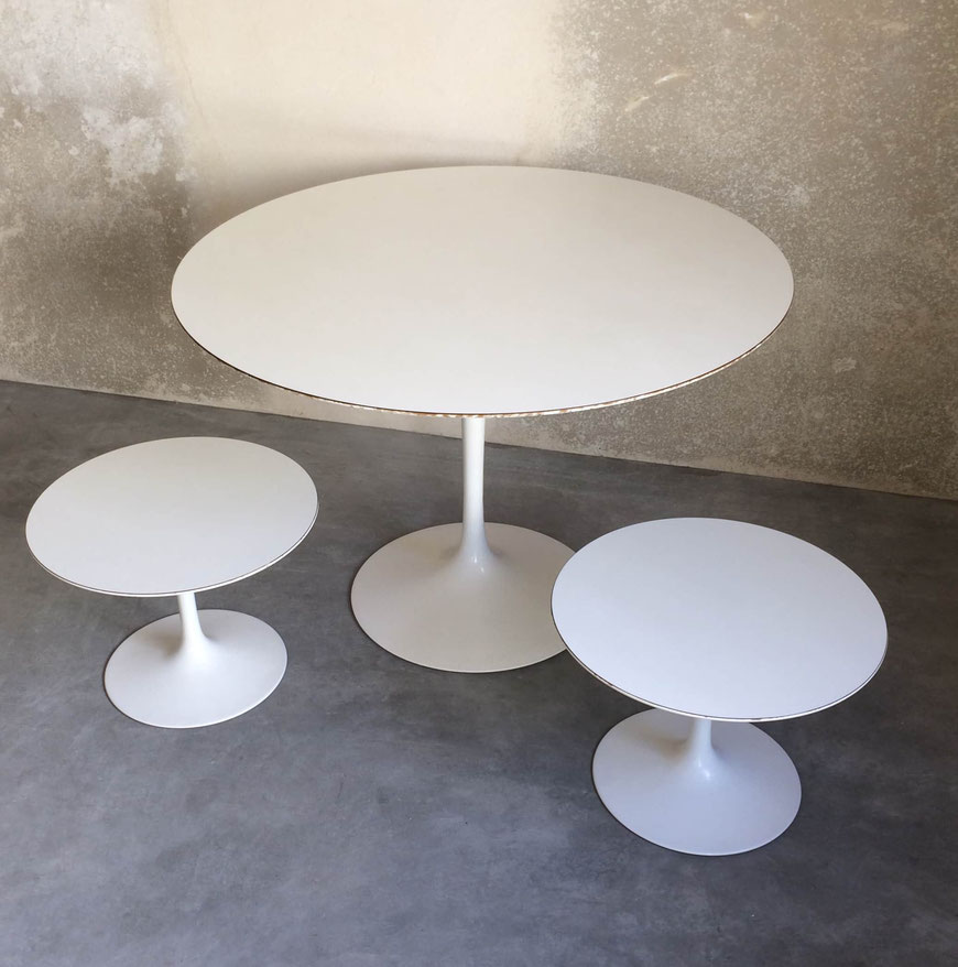 Saarinen, Knoll, table tulipe, table Knoll, table Saarinen, table vintage, table blanche