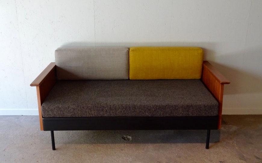 JOLI, banquette scandinave, banquette vintage, sofa, banquette Pierre Paulin, daybed, banquette années50