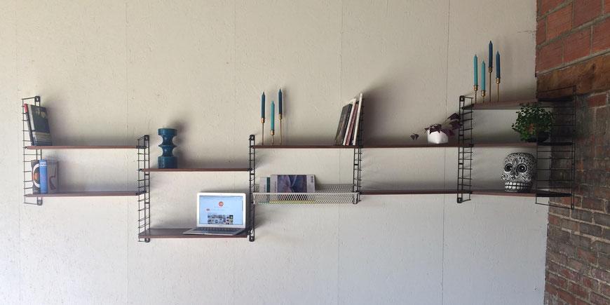 étagère TOMADO, étagère string, tomado-holland, tomado shelves, Tomado vintage, étagère murale, étagère suspendue