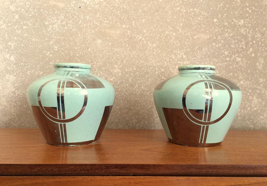 céramique, années 30, céramique art déco, céladon, céramique vintage, Odyv