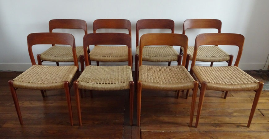 Joli, chaise Niels 0. Moller, 75 Niels O. Moller, chaise scandinave, chaise vintage, chaise teck, chaise danoise