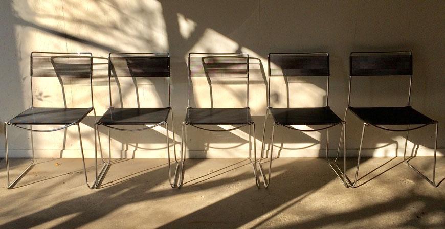 chaise scoubidou, chaise année 80, Giandomenico Bellotti, chaise Spaghetti, chaise Habitat