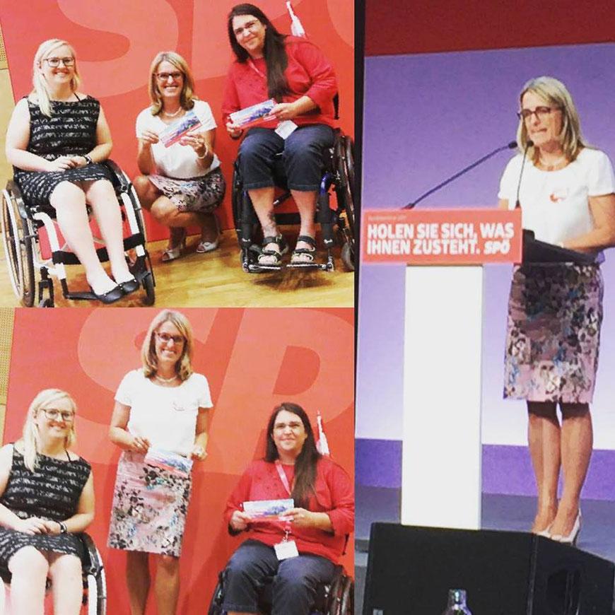 Behindertensprecherin - Ulrike Königsberg-Ludwig (SPÖ), Silke Haider (SPÖ) & Gudrun Durstberger (SPÖ)