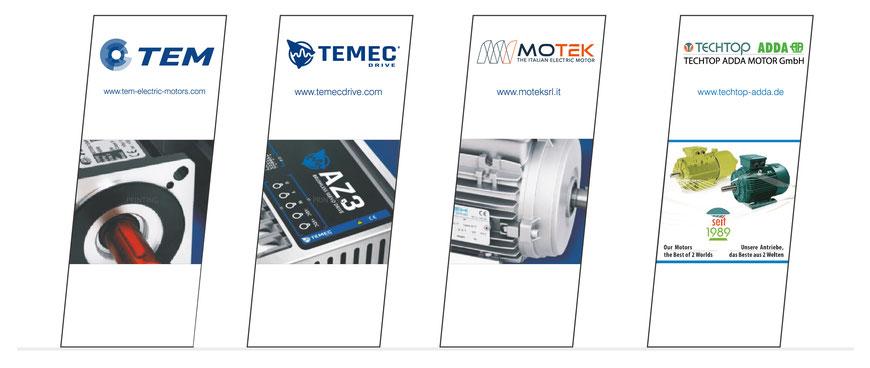 SPS Drives 2019 Messestand - TECHTOP ADDA MOTOR GmbH in Rodgau - Shanghai Top Motor Co. Ltd. - TEM Electric Motors srl. - Motek srl - TEMEC Drive srl.