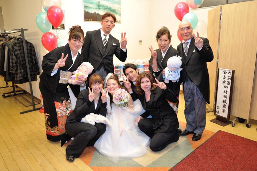 最後に記念写真♪最高の結婚式でした!