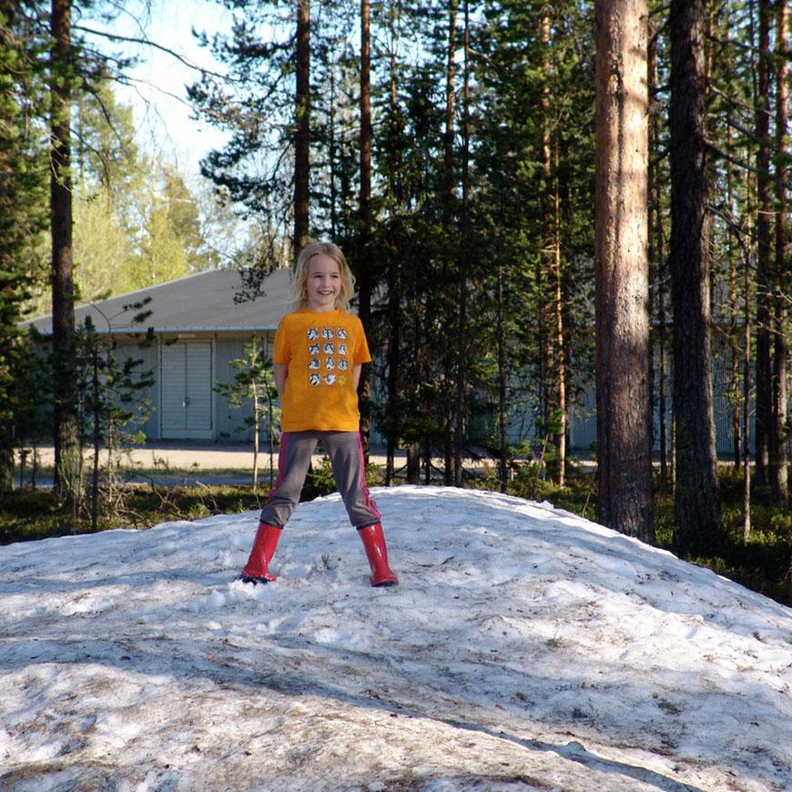 Schneehaufen in Arvidsjaur
