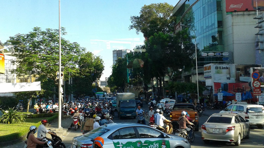 Rushhour in Ho Chi Minh Stadt