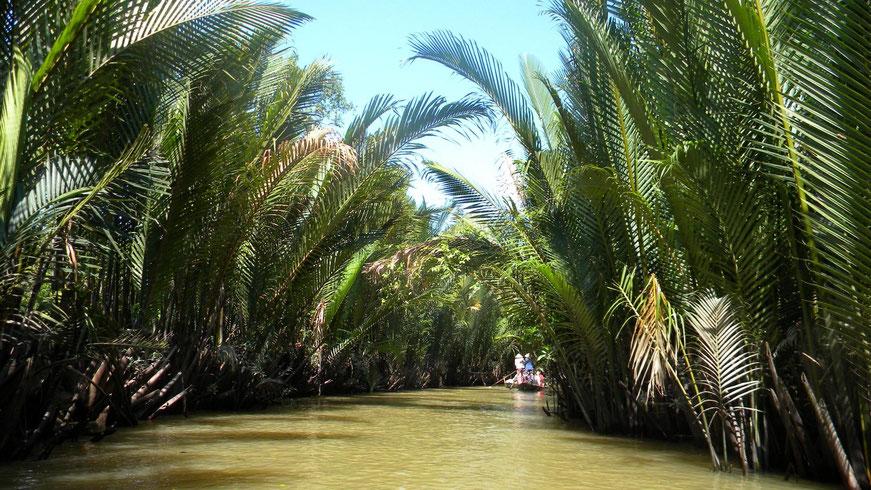 Fahrt auf dem Vam Chua Kanal