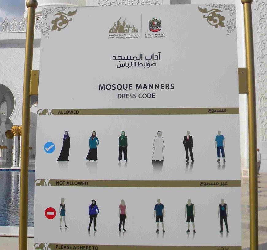 Dresscode für den Moscheebesuch
