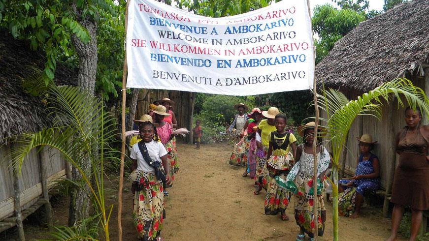 Ankunft in  Ambokarivo