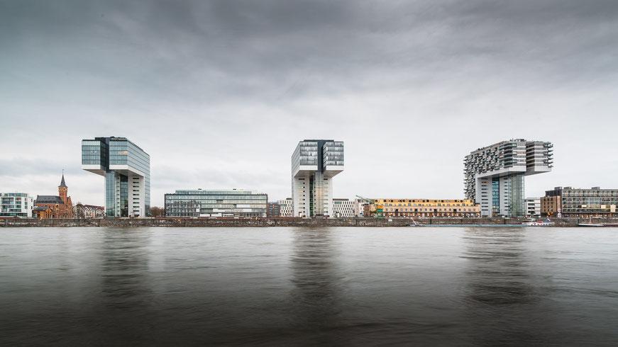 Kranhäuser, Rheinauhafen, Köln, Deutschland, Architektur, Architektonische Highlights, Architektonische Höhepunkte
